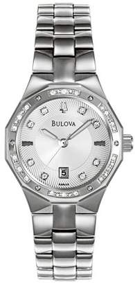 Bulova Women's 96R106 Diamond Accented Calendar Watch