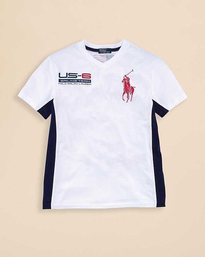 Ralph Lauren Boys' Short-Sleeved USA Tee - Sizes S-XL