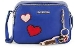 Love Moschino Heart Faux Leather Crossbody Bag