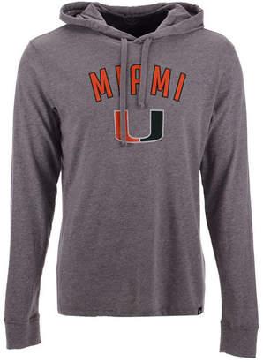 '47 Men's Miami Hurricanes Long Sleeve Focus Hooded T-Shirt