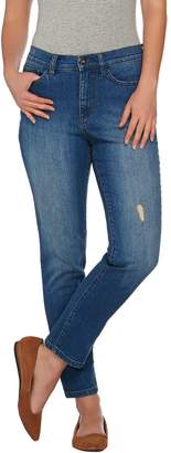 Denim & Co. Studio by Classic Denim Distressed Ankle Jeans