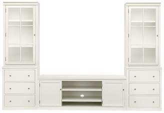 Pottery Barn Logan Media Suite with Drawers & Glass Towers