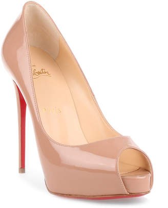 Christian Louboutin New Very Prive 120 patent nude pump