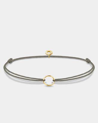 Thomas Sabo Grey Yellow Gold Plated Circle Charm Bracelet