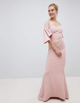 Bardot City Goddess Long Sleeve Maxi Dress