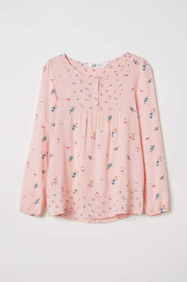 H&M Patterned Viscose Blouse - Pink