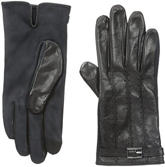 Adrienne Vittadini Women's Leather and Faux Suede Touchscreen Gloves $88 thestylecure.com