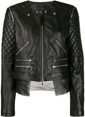Diesel Black Gold quilted sleeves jacket