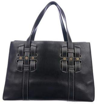 Celine Small Leather Tote Black Small Leather Tote