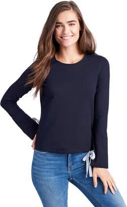 Vineyard Vines Mixed Media Tie Sleeve Sweatshirt