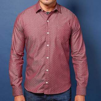 Blade + Blue Burgundy Chambray with Mini Dot Shirt - Oscar