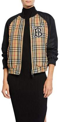 Burberry Vintage-Check Bomber Jacket