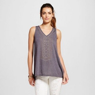Knox Rose Women's Embellished Knit Tank $19.99 thestylecure.com