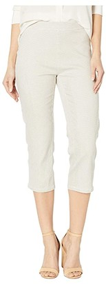 FDJ French Dressing Jeans Honeycomb Print Pull-On Capris in Sand