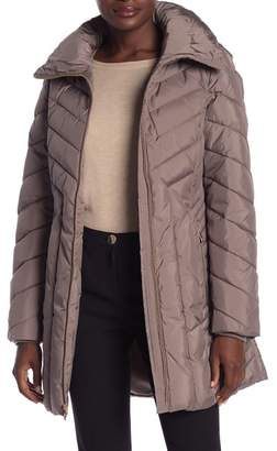 Anne Klein Missy Wing Collar Quilted Jacket