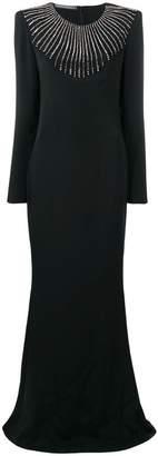 Alberta Ferretti embellished evening dress