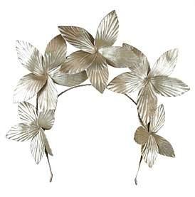 Morgan & Taylor Textured Pu Flowers On Halo Headband