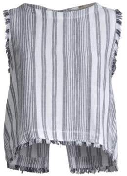 Bella Dahl Striped Frayed Hem Tank