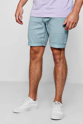 Slim Fit Coloured Denim Shorts