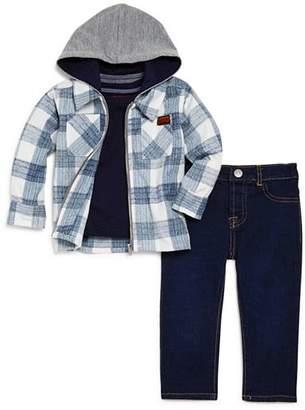 7 For All Mankind Boys' Flannel Jacket, Pocket Tee & Dark-Wash Jeans Set - Baby