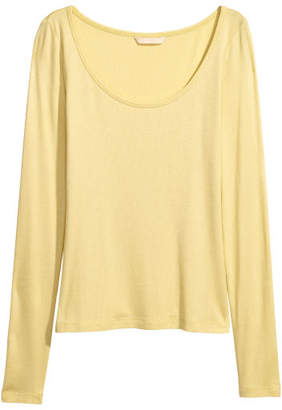 H&M Jersey Top - Yellow