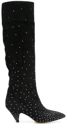 Valentino micro-studded knee high boots