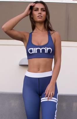 Aim Aim'n Logo Bra Navy