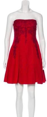 Marchesa A-Line Strapless Dress