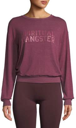 Spiritual Gangster Varsity Savasana Pullover Sweater
