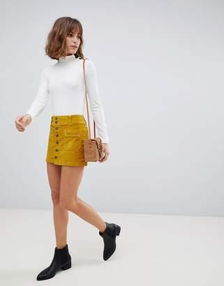 Free People Joanie cord mini skirt
