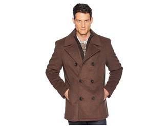 Kenneth Cole New York Double Breasted Wool Peacoat w/ Inner Vestie Men's Coat
