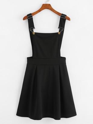 Shein Box Pleated Pinafore Dress