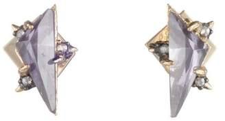 Alexis Bittar Stone Post Stud Earring