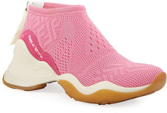 Fendi FFluid Knit Zip-Up Sneakers