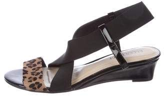 Ellen Tracy Crossover Wedge Sandals