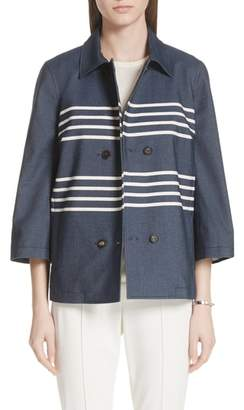 St. John Double Stripe Denim Jacket