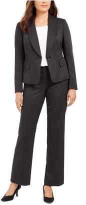 Le Suit Double-Pinstriped Pantsuit