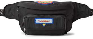 Gucci Convertible Appliqued Shell Belt Bag - Black