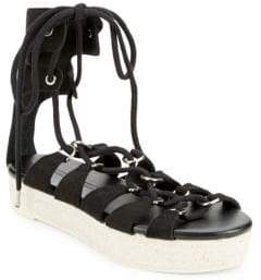 McQ Leather Wrap-Around Sandals