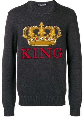 Dolce & Gabbana intarsia crown sweater