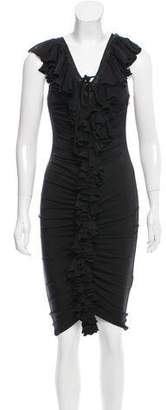 Just Cavalli Ruffle-Trimmed Sleeveless Dress