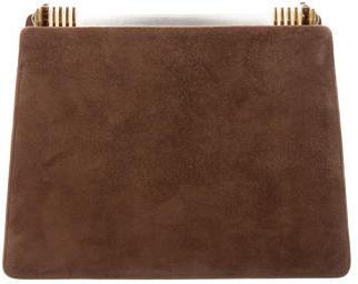 Judith Leiber Suede Frame Bag $200 thestylecure.com