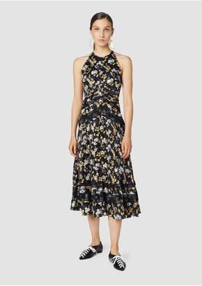 Derek Lam 10 Crosby Bouquet Floral Print Silk-Blend Jacquard Midi Dress