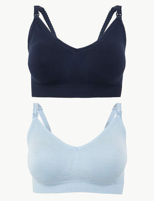 5a27a7ffe24da M&S CollectionMarks and Spencer 2 Pack Seamfree Maternity Padded Full Cup  Bras