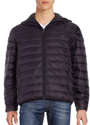 Hawke & Co Packable Hooded Down Puffer Jacket