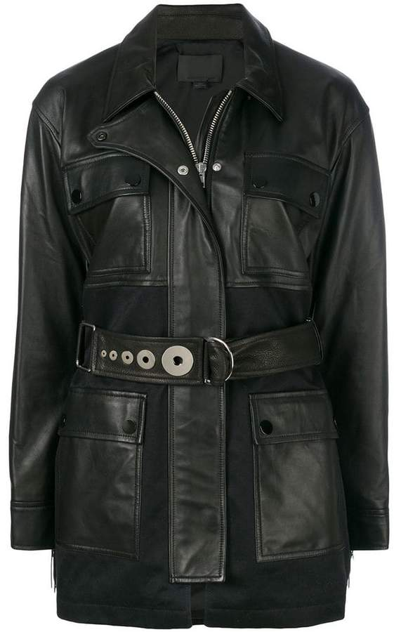 Alexander Wang Utility jacket with fringe detail