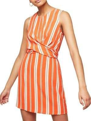 Miss Selfridge Striped Twist-Front Mini Dress