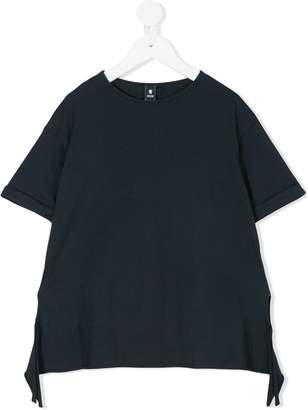 European Culture Kids asymmetric hem T-shirt
