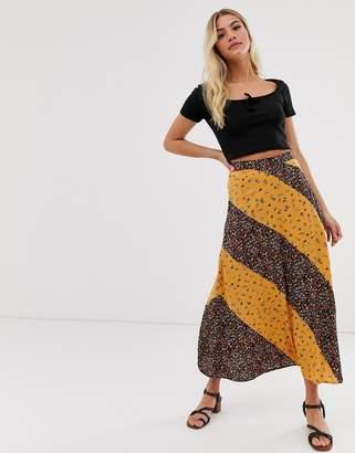 2ead74616 Asos Design DESIGN button side city maxi skirt in mixed ditsy floral