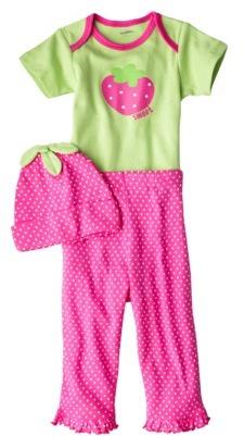 Gerber Newborn Girls' 3-Piece Set - Pink